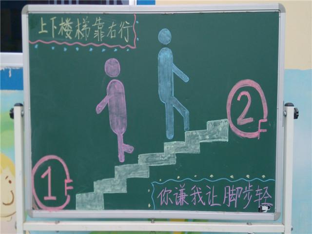 组织开展全园幼儿上下楼梯安全